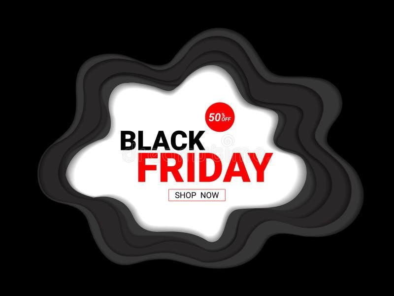 Black Friday sprzedaży projekta wpisowy szablon ilustracji