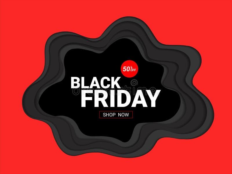 Black Friday sprzedaży projekta wpisowy szablon royalty ilustracja