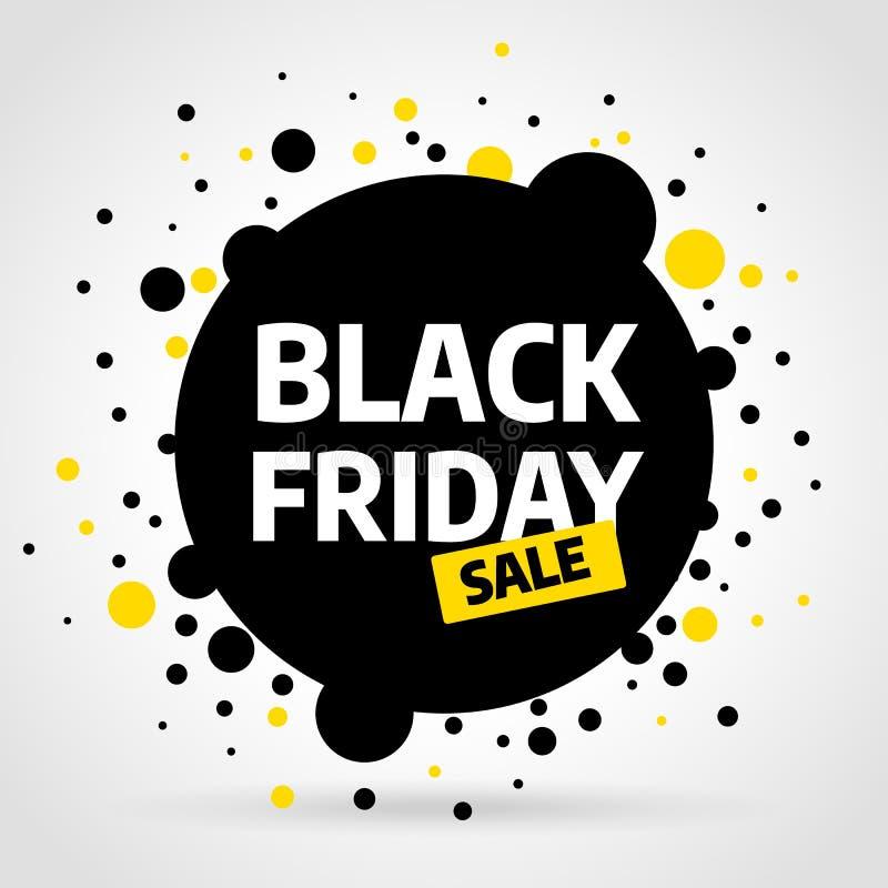Black Friday sprzedaży projekta wpisowy szablon Czarny Piątku sztandar również zwrócić corel ilustracji wektora