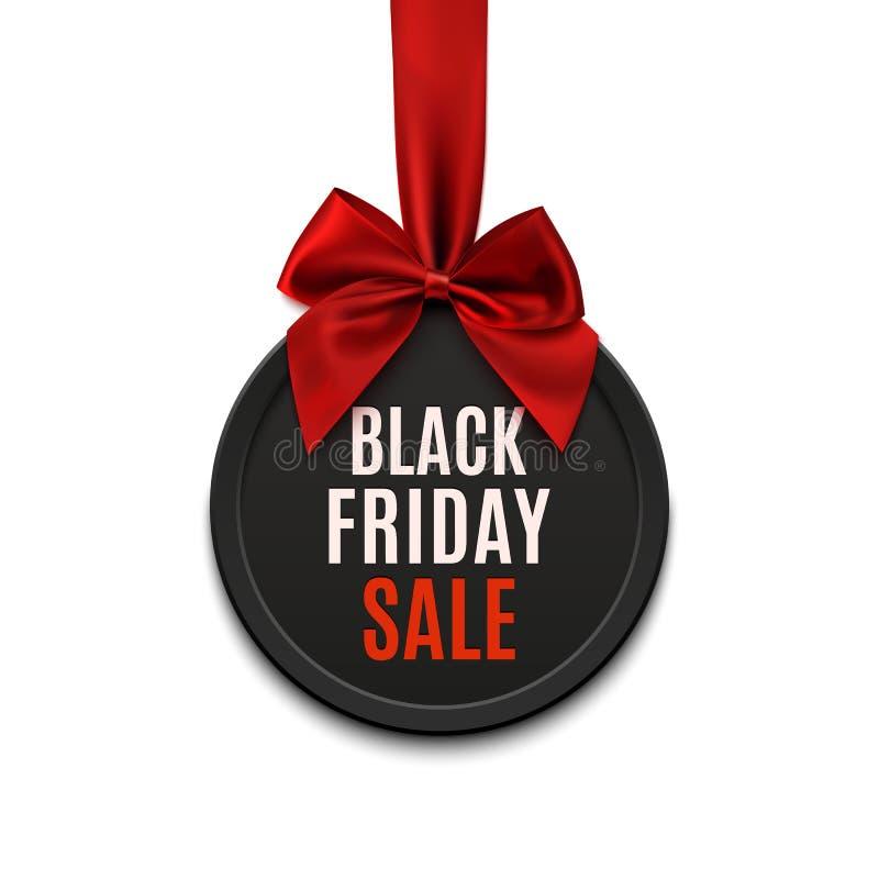 Black Friday sprzedaży round sztandar royalty ilustracja