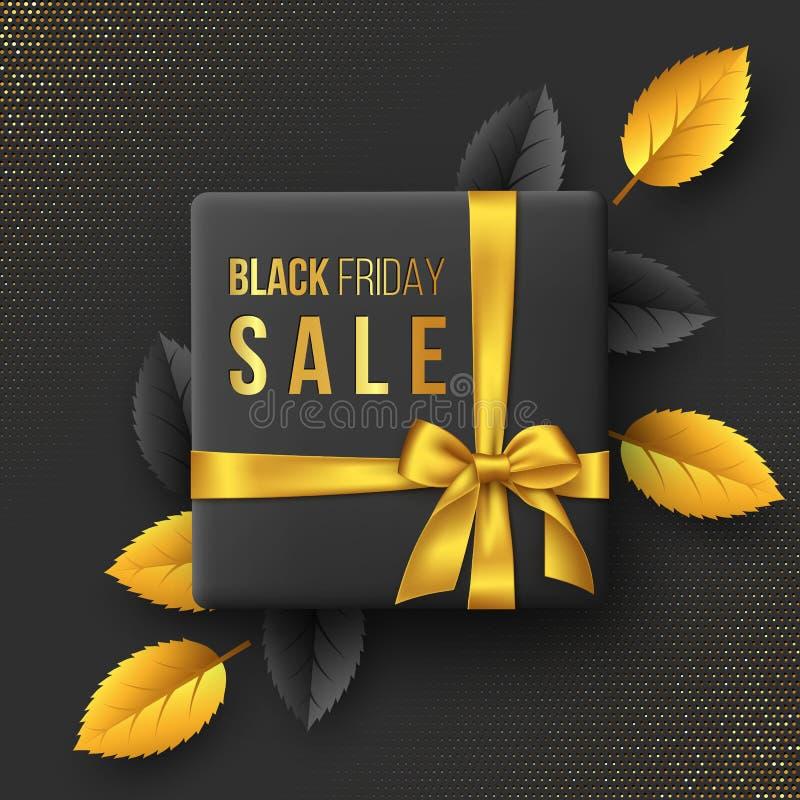 Black Friday sprzedaży sztandar lub plakat ilustracja wektor