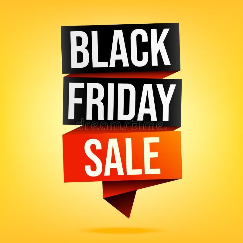 Black Friday sprzedaży sztandar w kolorze żółtym ilustracji