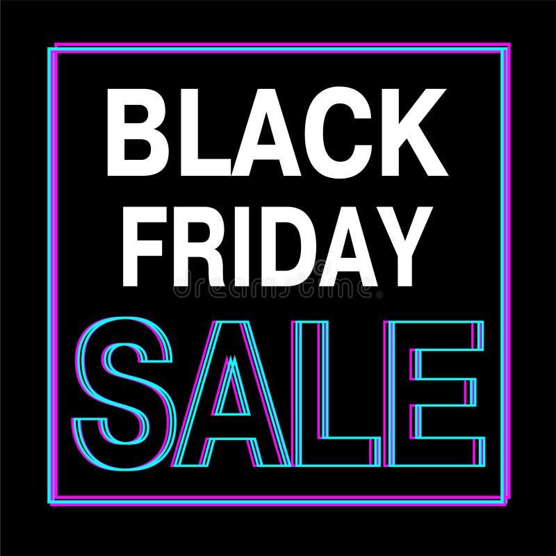 Black Friday sprzedaży tekst również zwrócić corel ilustracji wektora royalty ilustracja