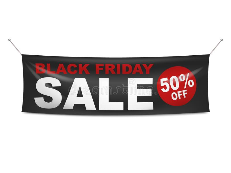 Black Friday sprzedaży winylu sztandar ilustracji
