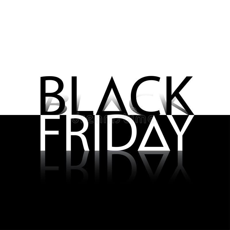 Black Friday sprzedaży wpisowy projekt w monochromu stylu również zwrócić corel ilustracji wektora ilustracja wektor
