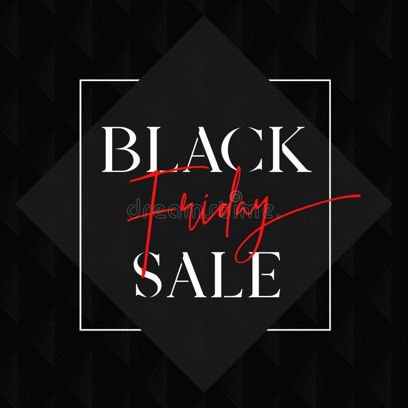 Black Friday sprzedaży Z klasą karta ilustracja wektor