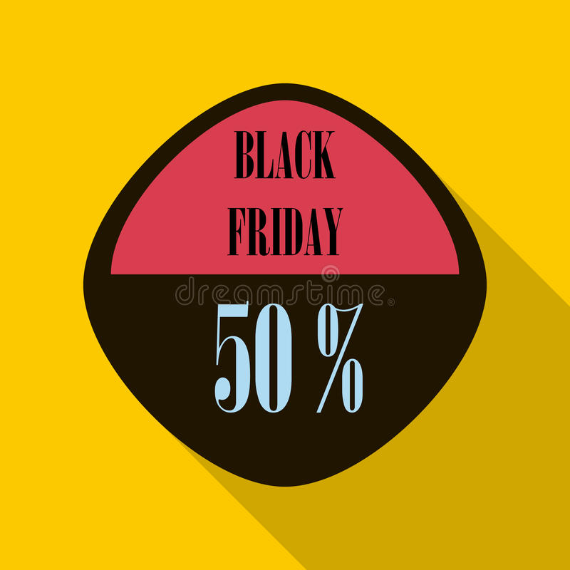 Download black friday sticker 50 percent off icon stock vector illustration of holiday icon