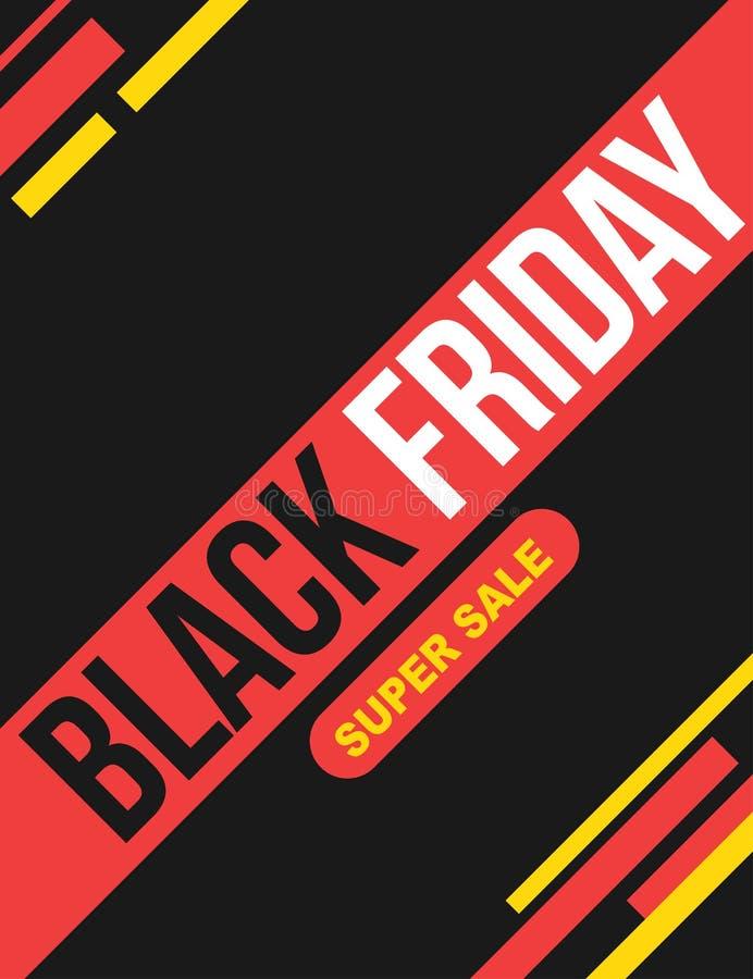 Black Friday super sale poster royalty free illustration