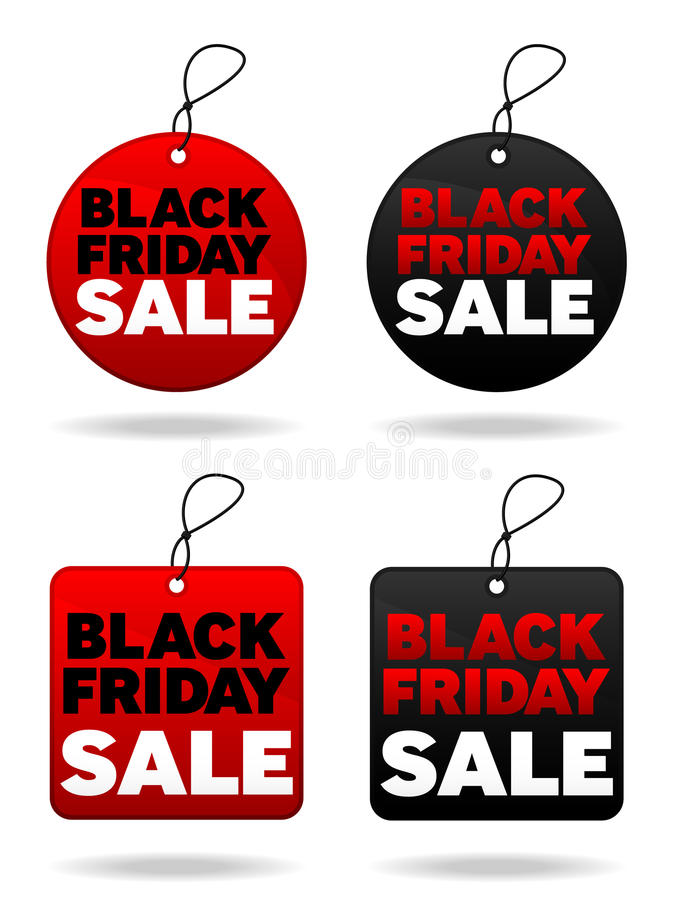Free Black Friday Tags Royalty Free Stock Photography - 16914167