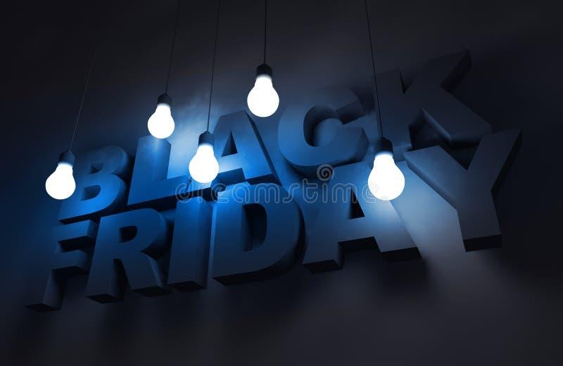 Black Friday tema vektor illustrationer