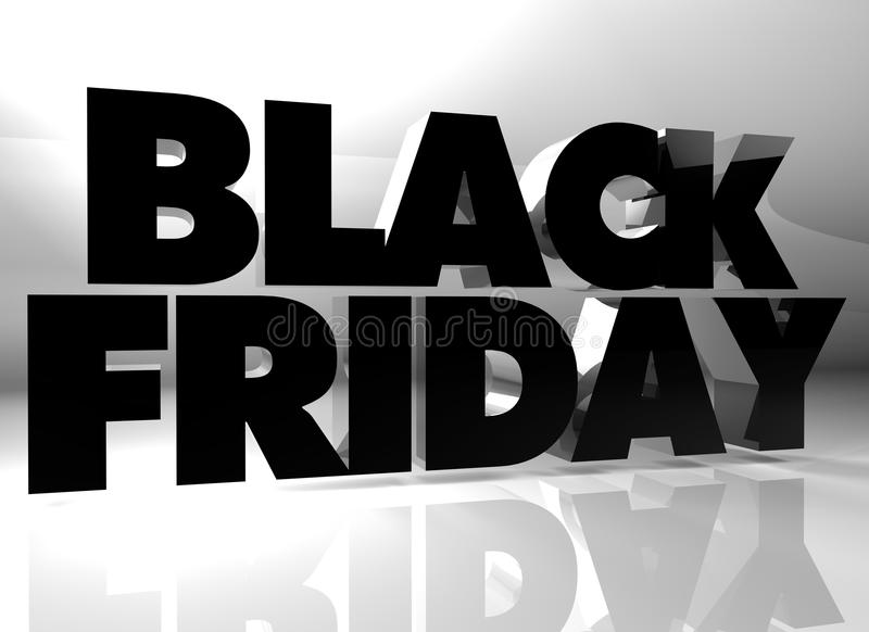 Black Friday text vector illustration