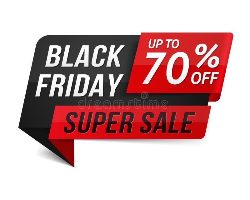 Black Friday toppna Sale vektor illustrationer