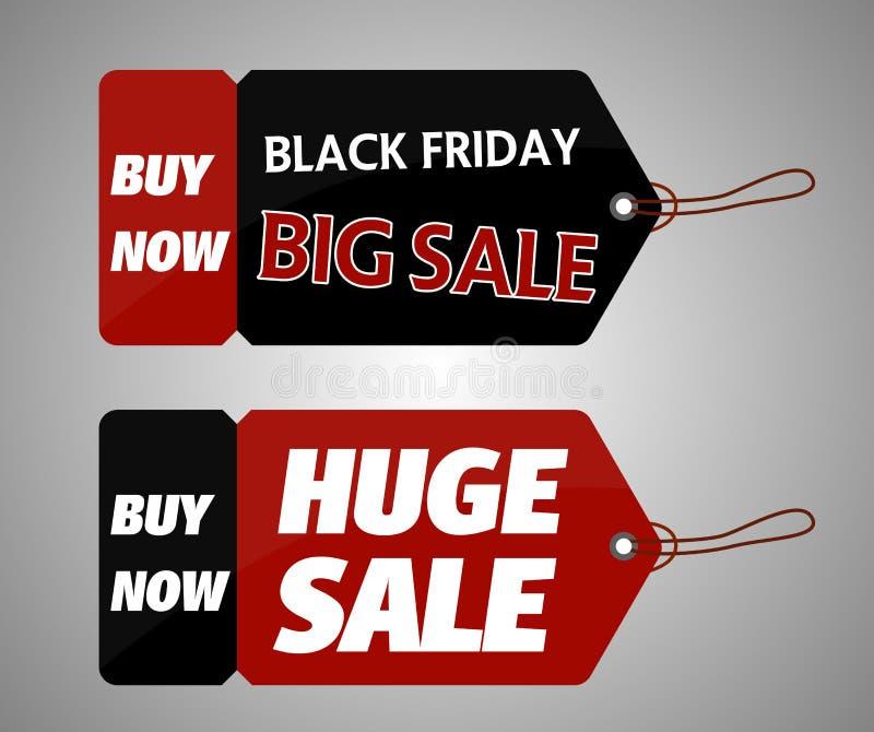 Black Friday torba na zakupy i sprzedaży etykietki marketingowy szablon ilustracja wektor