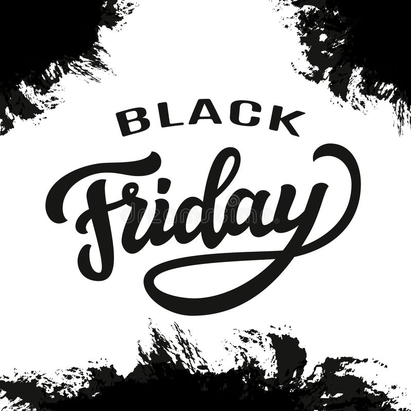 Black Friday Sale Typography Template Stock Vector - Illustration of ...