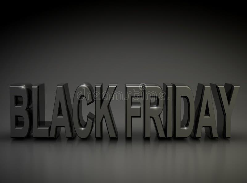 Black Friday in una stanza scura illustrazione di stock