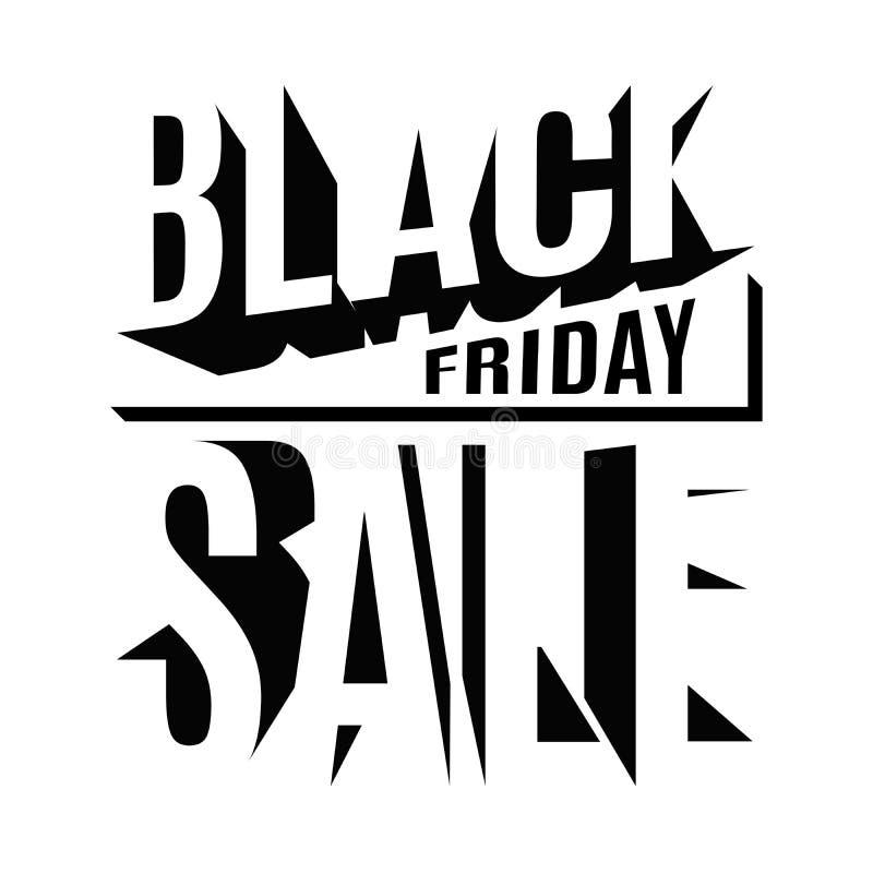 Black Friday-vakantie 3d van letters voorziende banner stock illustratie