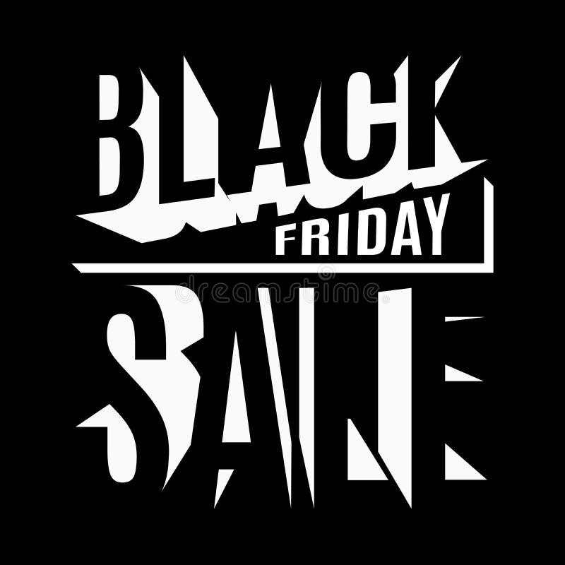 Black Friday-vakantie 3d van letters voorziende banner royalty-vrije illustratie