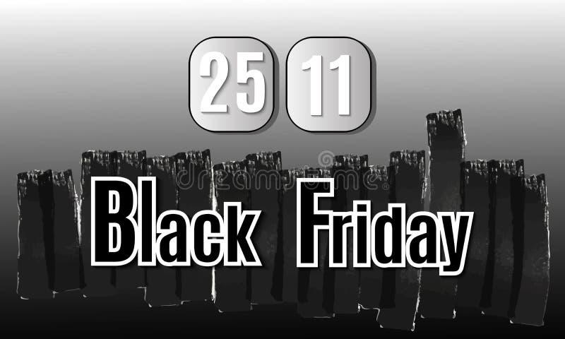 Black Friday. Vector image with inscription black friday. stock photo