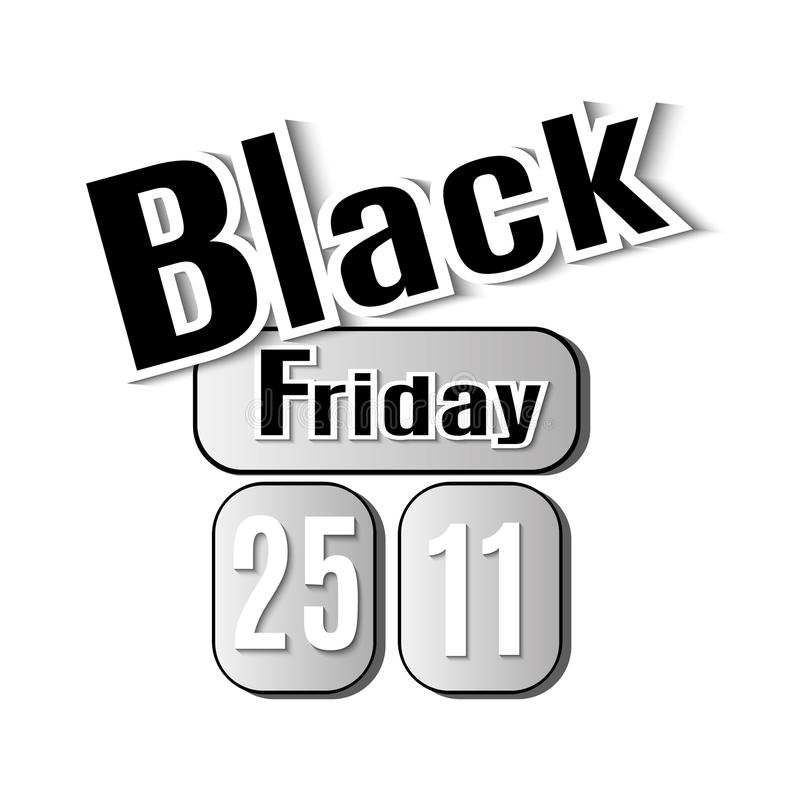 Black Friday. Vector image with inscription black friday. stock photography