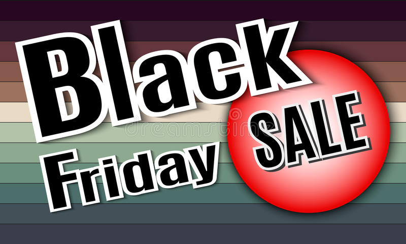 Black Friday. Vector image with inscription black friday. stock photos