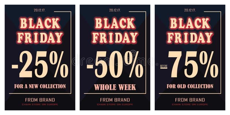 Black Friday, venta, descuentos, cartel, cartel Ilustración del vector libre illustration