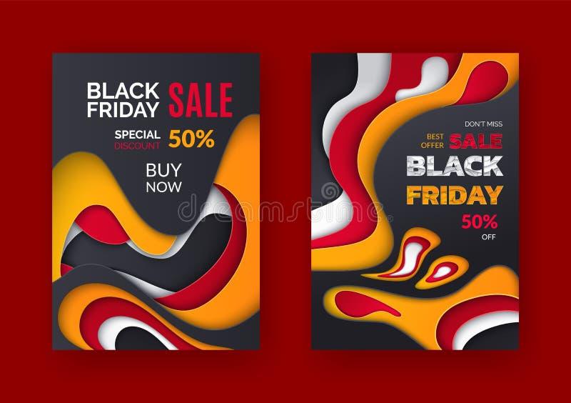 Black Friday-Verkaufs-Best-Angebot, 50 Prozent-Preis weg stock abbildung