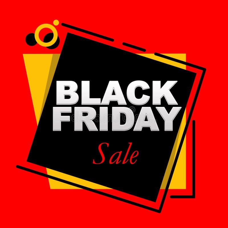 Black Friday-Verkaufs-Fahne auf einem geometrischen Hintergrund vektor abbildung