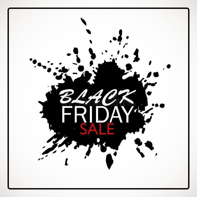 Black Friday-Verkaufs-Fahne mit Farben-Fleck vektor abbildung