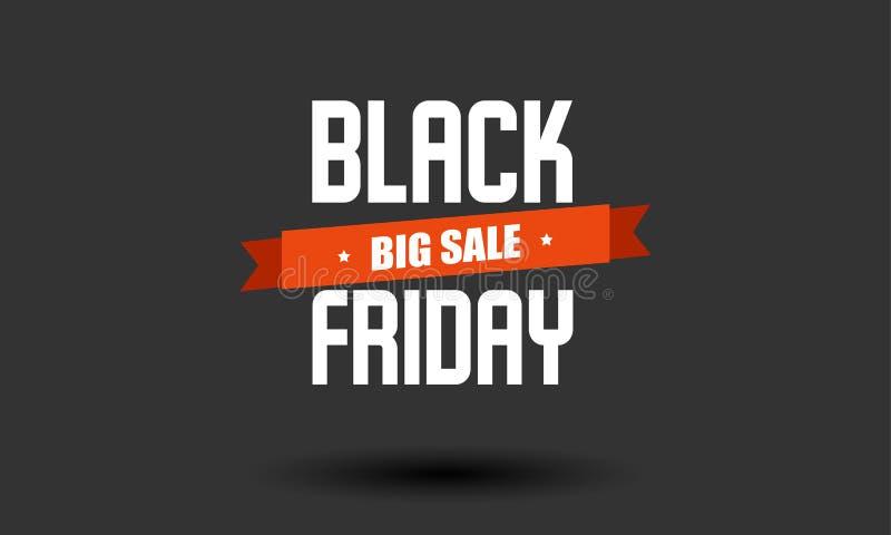 Black Friday-Verkaufsaufkleber-Designschablone lizenzfreies stockbild
