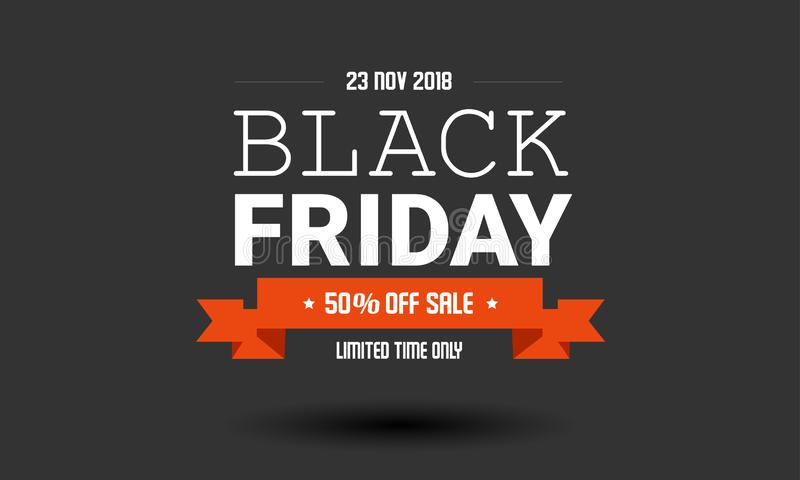 Black Friday-Verkaufsaufkleber-Designschablone lizenzfreie stockbilder