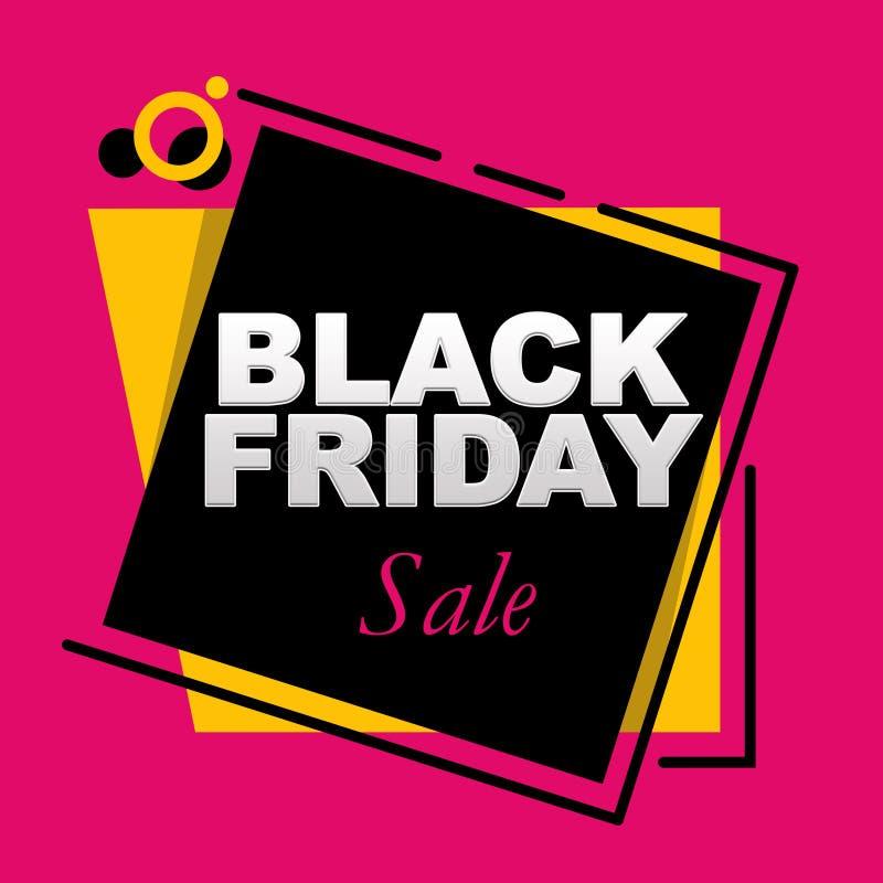 Black Friday-Verkaufsbeschriftung auf einem rosa Hintergrund vektor abbildung