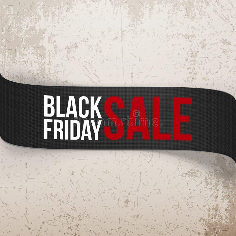 Black Friday-Verkaufsbiegungs-Vektor Band lizenzfreie abbildung