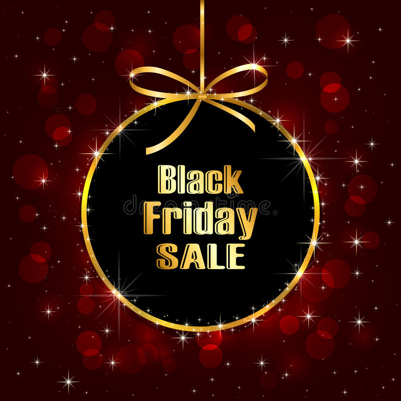 Black Friday-Verkaufshintergrund stock abbildung