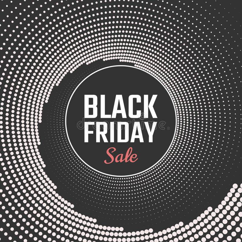 Black Friday-Verkaufshintergrund Auch im corel abgehobenen Betrag stock abbildung