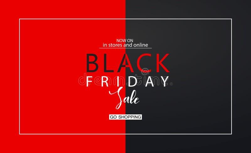 Black Friday-Verkaufshintergrund Moderne Auslegung Universalvektorhintergrund für Plakat, Fahnen, Flieger, Karte vektor abbildung