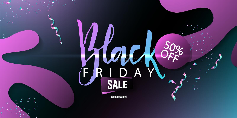 Black Friday-Verkaufshintergrund Moderne Auslegung Universalvektorhintergrund für Plakat, Fahnen, Flieger, Karte lizenzfreie abbildung