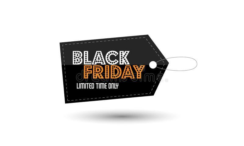 Black Friday-Verkaufspreisaufkleber-Designschablone lizenzfreie stockbilder
