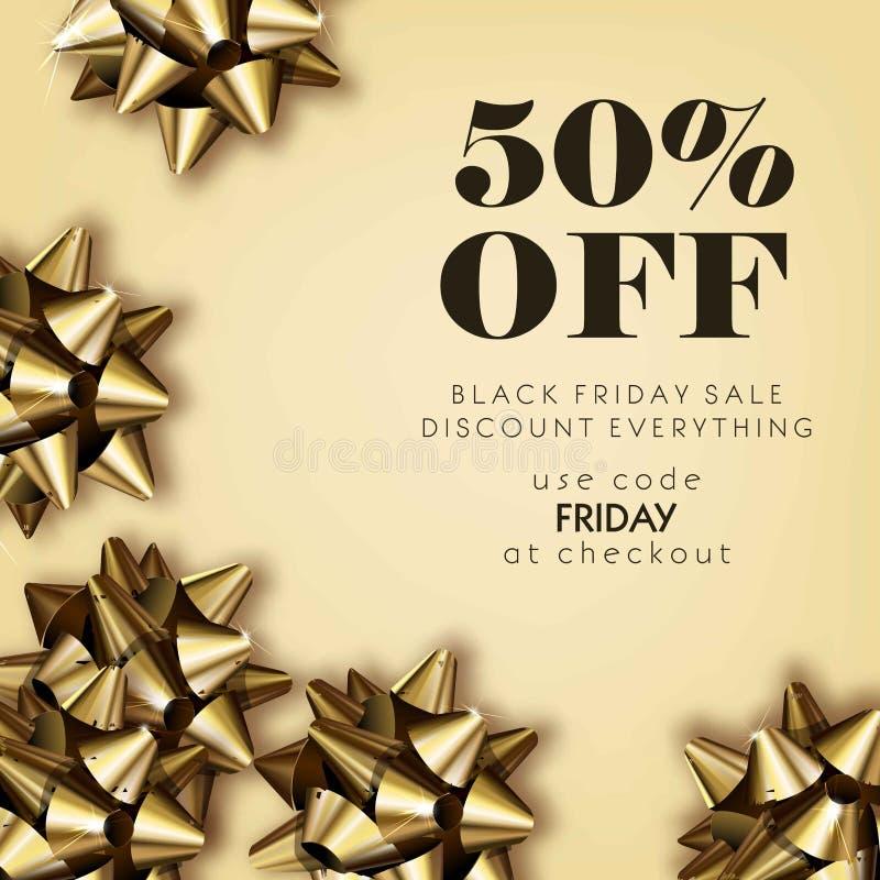 Black Friday-Verkaufsrabatt für alles Promoangebotplakat oder vektor abbildung