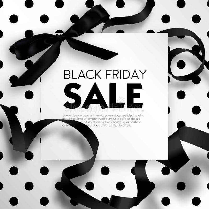 Black Friday-Verkaufsrabatt Promo-Angebotplakat oder Reklamehandzettel und Kupon lizenzfreie abbildung