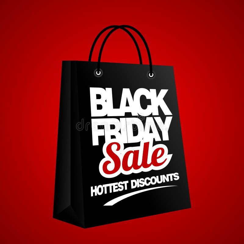 Black Friday-Verkoop, korting en bonmalplaatje vector illustratie
