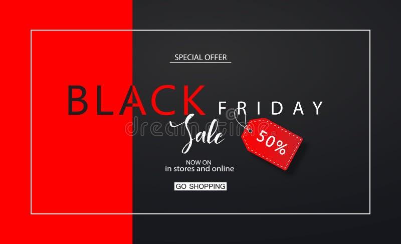 Black Friday-Verkoopachtergrond Modern ontwerp Universele vectorachtergrond voor affiche, banners, vliegers, kaart royalty-vrije illustratie