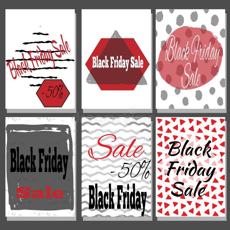 Black Friday-Verkoopaffiche met het van letters voorzien stock fotografie