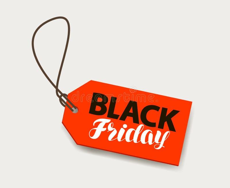 Black Friday, Verkoopbanner Prijskaartje, het winkelen concept vector illustratie