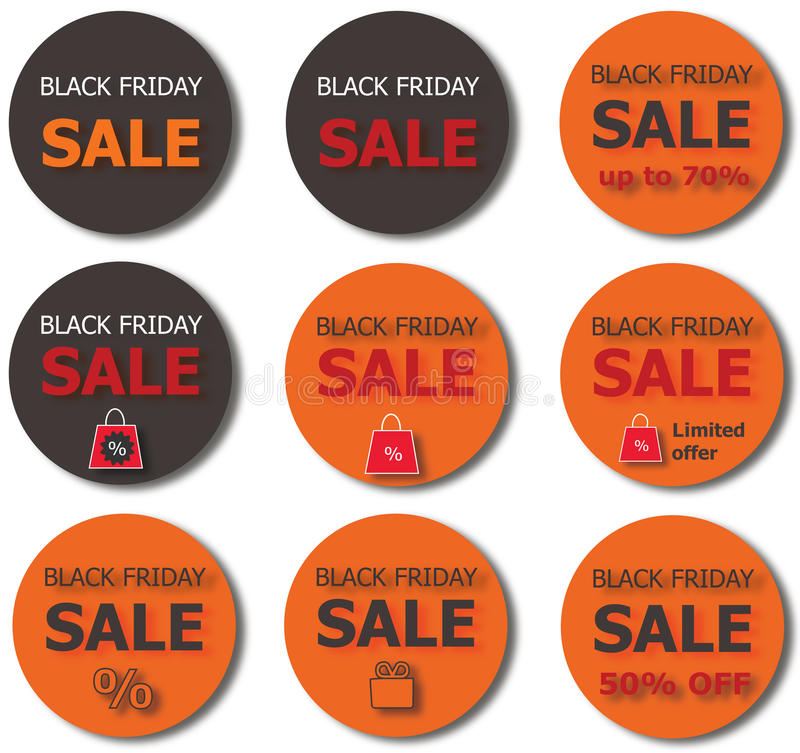 Black Friday-verkoopknopen stock afbeelding