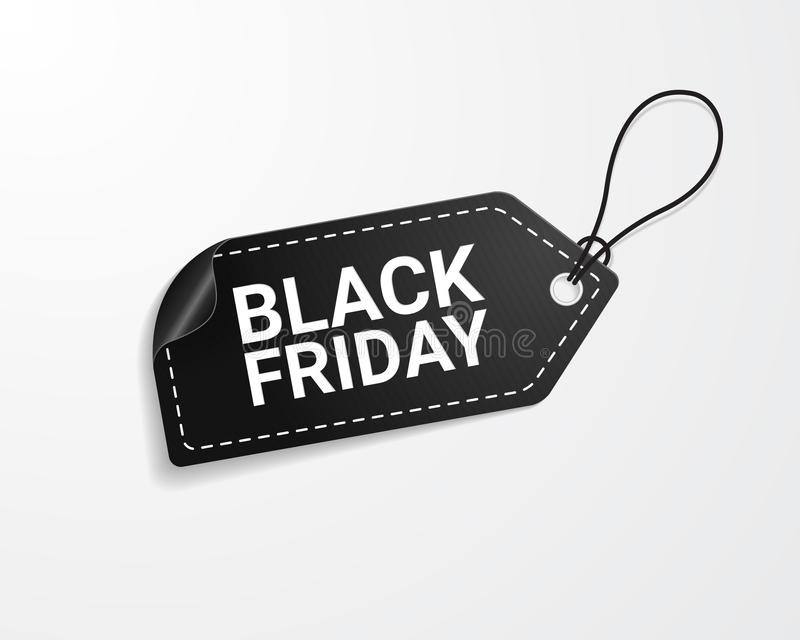 Black Friday-verkoopmarkering royalty-vrije illustratie