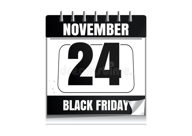 Black Friday wall calendar 2017 stock illustration