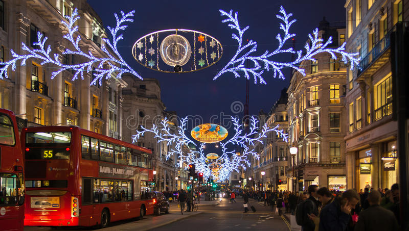 Black Friday weekend w Londyn pierwszy sprzedaż przed bożymi narodzeniami Regent ulica fotografia royalty free