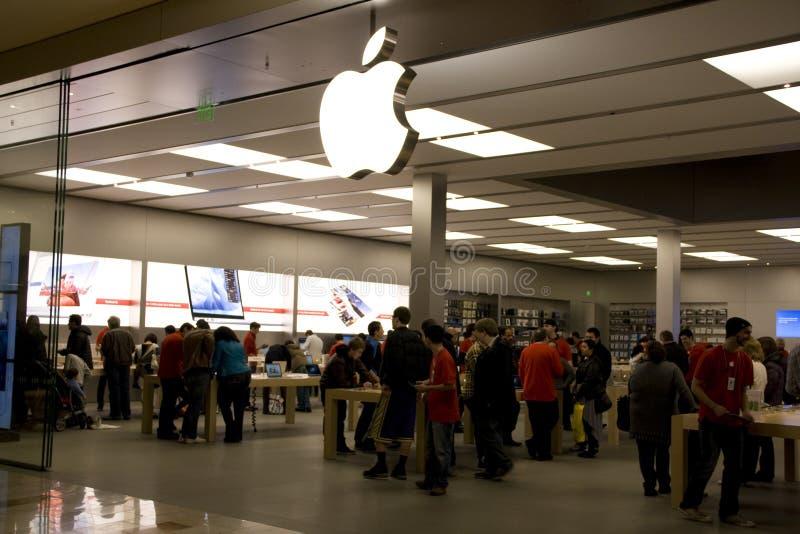 Black Friday white Apple store stock photos