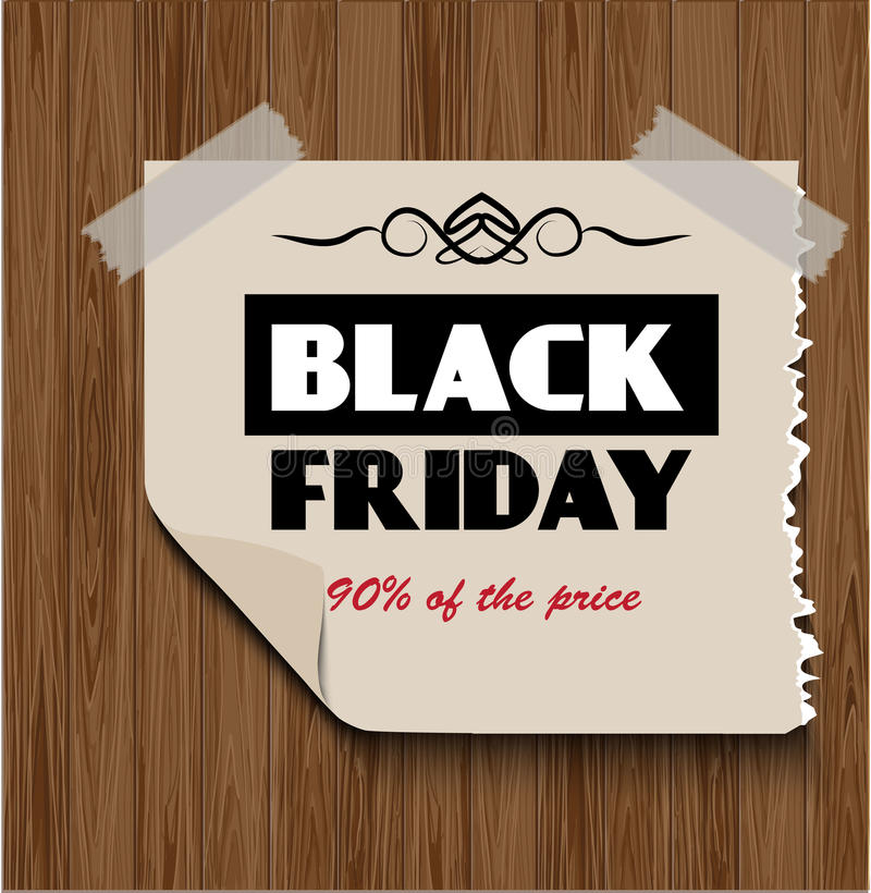 Download Black Friday On  Wooden Background Stock Photo - Image: 35532036