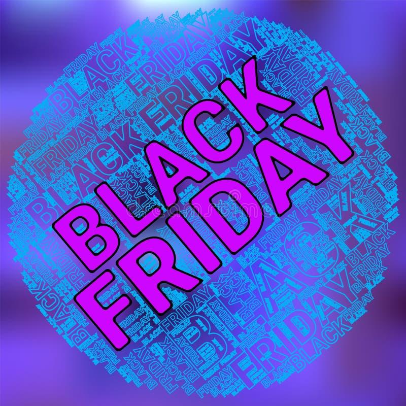 Black Friday Wordcloud Nuage des textes Concept de typographie Illustration de vecteur image stock